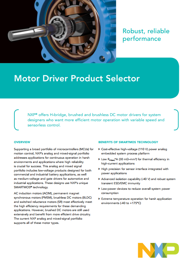 Motor Driver Product Selector