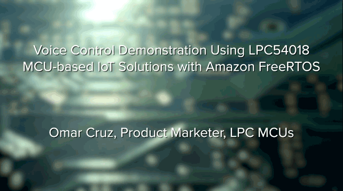 Voice Control Demonstration using LPC54018
