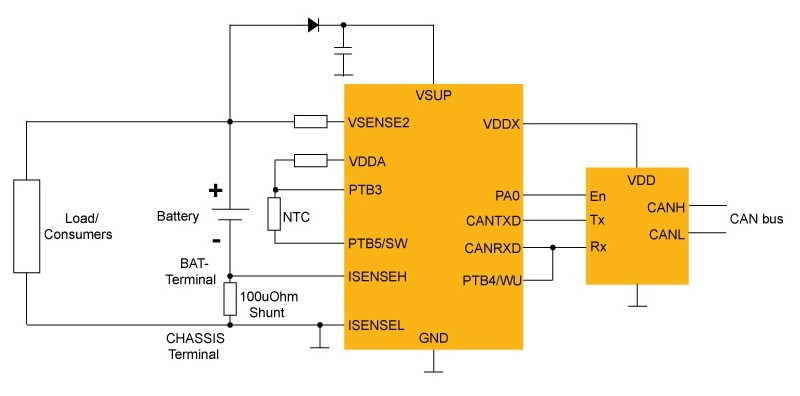 12V Lead-acid Battery Sensor (BMS) with CAN thumbnail
