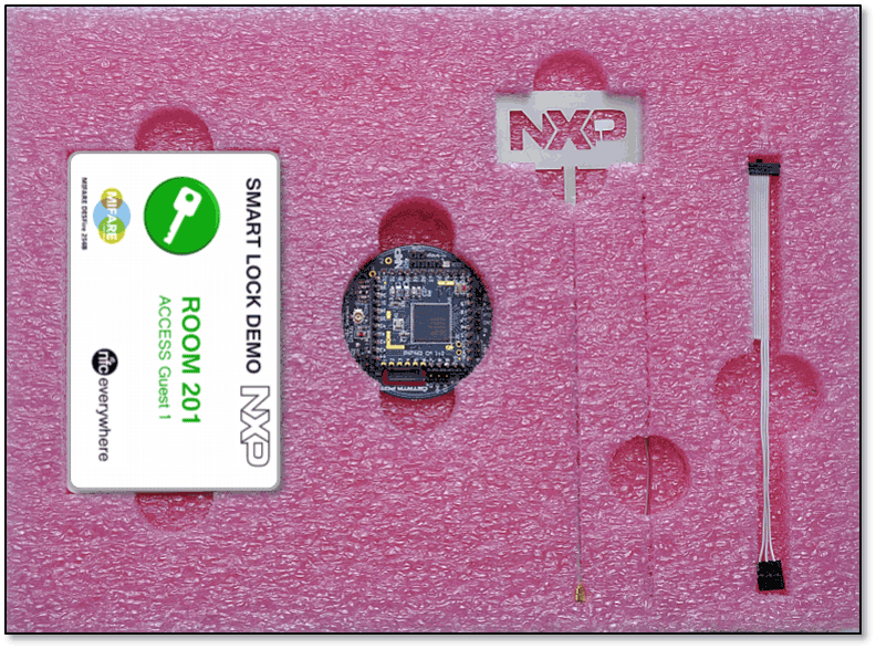 NFC-Bluetooth<sup&gt;&amp;#174;</sup&gt; Low Energy smart lock kit thumbnail
