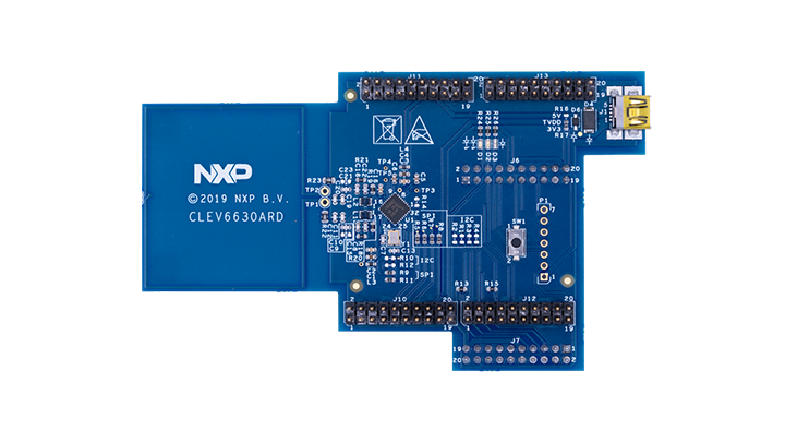 CLEV6630ARD: NFC frontend CLRC663 <i>plus</i> Arduino<sup>&reg;</sup> interface board thumbnail