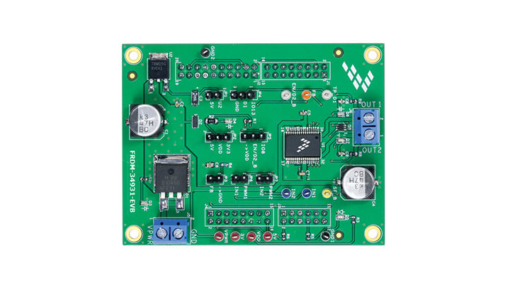 Freedom Expansion board for MC34931- Brushed DC Motor Driver, H-Bridge, 11 kHz thumbnail