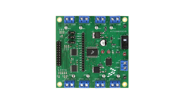 Evaluation Kit MC33882 -Smart Six Output Switch with SPI and Parallel Input Control thumbnail