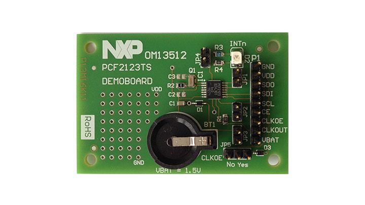 Demoboard for the SPI-bus RTC PCF2123 thumbnail